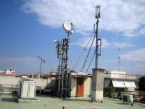 Mobile network base station - On a building